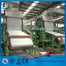 New design 1760mm 5T/D single-cylinder mould and single-wire toilet paper making machine