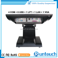 Runtouch Full Flat Fanless Integrated two screens pos payment for exhibition
