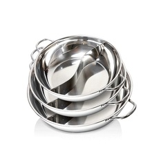 Wholesale Stainless Steel Stock Pot Two-flavor Hot Pot Soup Pot