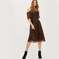 Leopard Spot Midi Dress for Women