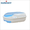 Colorful plastic indoor training cat litter box toilet with tray and drawer