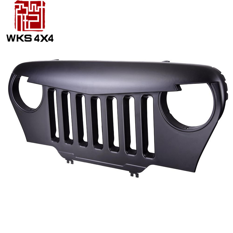ABS material Car grill Front Matte Black grills for Jeep wrangler TJ 1997-2006 grilles off road <strong>accessories</strong>