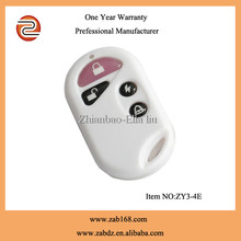 ZY3-4E,White,4button,80m,learning code,waterproof wireless electrombile remote controller,wireless electrocar remote control