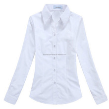 ladies workwear white uniform shirt