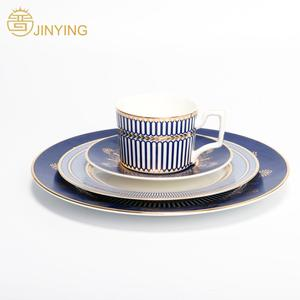Fine bone china dinner set royal wedding dinnerware set luxury latest dinner set with popular design