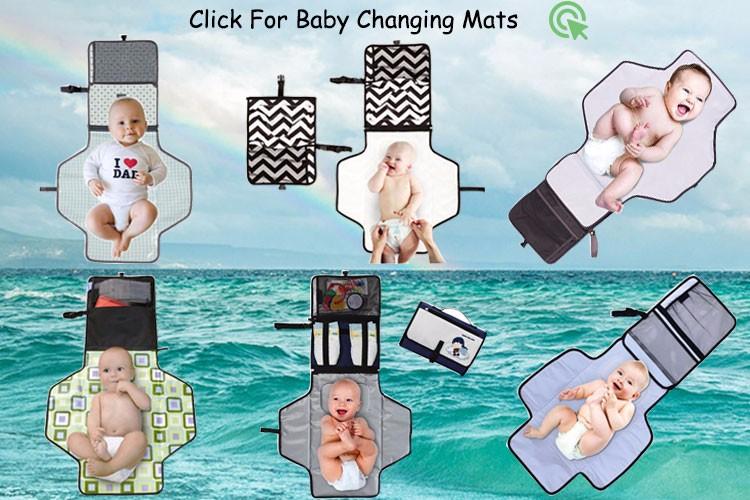 Viajar portátil à prova d' água poliéster viagem trocador de fraldas do bebê