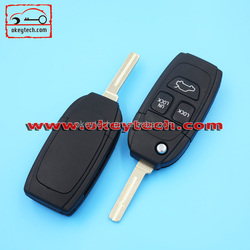 New products 3 button flip car key blanks wholesale VOLVO key blank