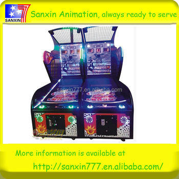 Entertainment coin operated basketball skill game machine