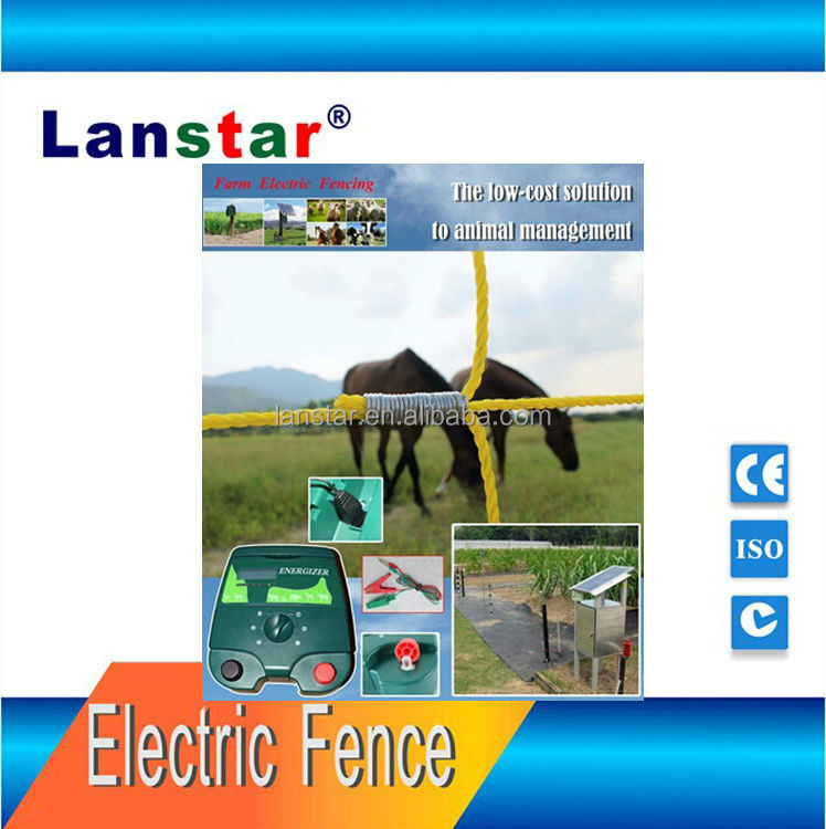 Livestocks security power fence Lanstar solar powered farm electric fence energizer/ energiser