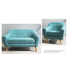 Modern single seater wood sofa chairs sectional wood frame sofa