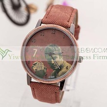 2014 New design quartz movt leather strape fashion famous person watch for men and women made in China!!
