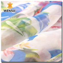 imitation silk fabric Wensli Pure Custom Digital Print Silk Fabric For Shirt