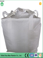 Unloading Filling Spout Top Flat Bottom 100% New PP Big Bag 1 Ton Jumbo Bag For Sugar With UV Resistant