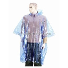 high quality Disposable PE rain poncho/raincoat