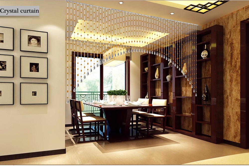 pujiang wholesale Crystal beads curtain for arch windows and door
