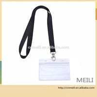 clear waterproof soft plastic name punch vertical badge id card holder