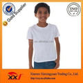 Customized bulk blank white t shirt for kids