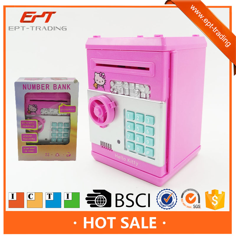 B/O atm piggy bank money saving boxes toy for children