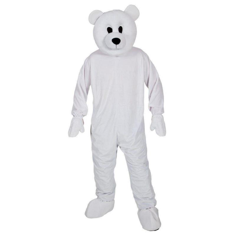 factory custom adult polar bear onesie costume mascot