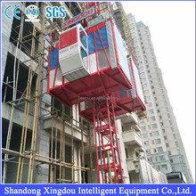 SC200/200- 2ton Double Cages with 34m/min speed Construction hoist elevator