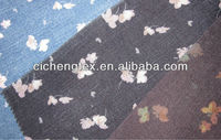 Very popular cotton spandex print denim fabric for girls,jeans cloth fabric