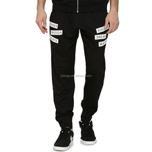 Comfortable cotton polyester black mens joggers track pants
