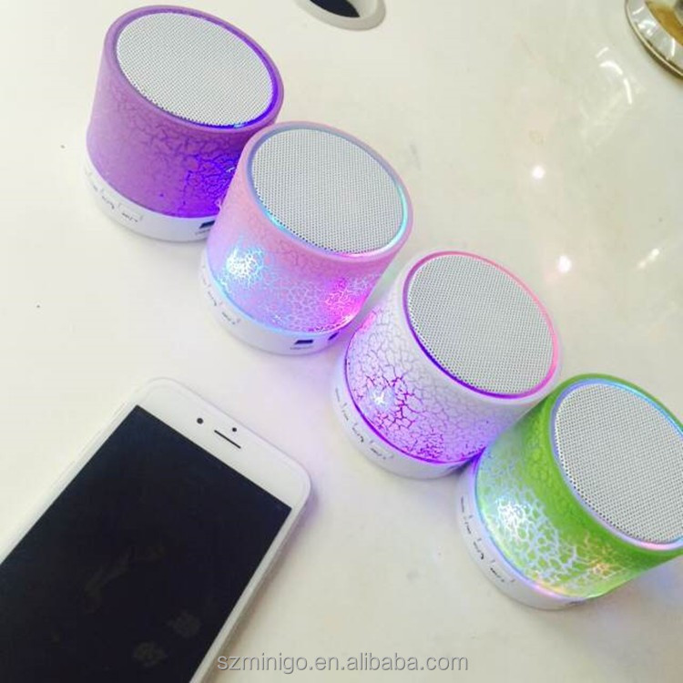 Factory Wholesale Price Portable Mini A9 Wireless Bluetooth Speaker with led light