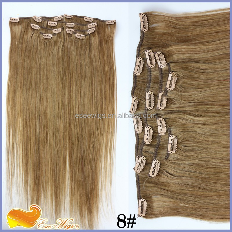 Unprocessed Clip In Hair Extension For African Amercian 140g Human Hair Extension With Clip