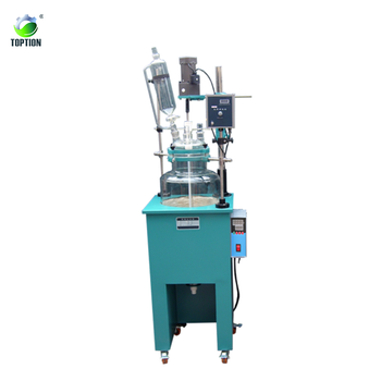 TST-5MP 5L single layer laboratory glass reactor with heating mantle