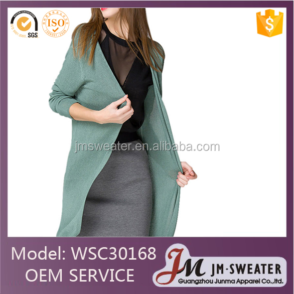 Knitted cardigan women sweater long sweaters plus size knitted polyester sweater