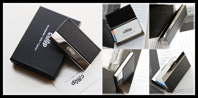 Business card holder with gift box