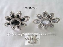 fashion flower jewelry ring with diamond