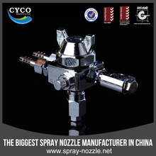 Air water flat fan atomizing spray nozzle