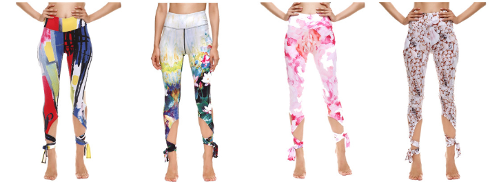 New arrival high waist white skintight yoga pants for women