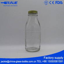 Large capcity clear milk glass bottle 1000ml