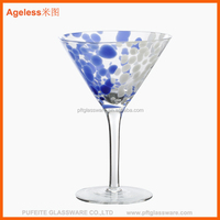 2014 new design decorated big martini/margarita drinking glasses