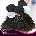 2017 Best Selling Indian Hair Raw Unprocessed Virgin Natural deep Curly Hair weaving