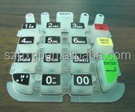 customized silicone button remote key cover