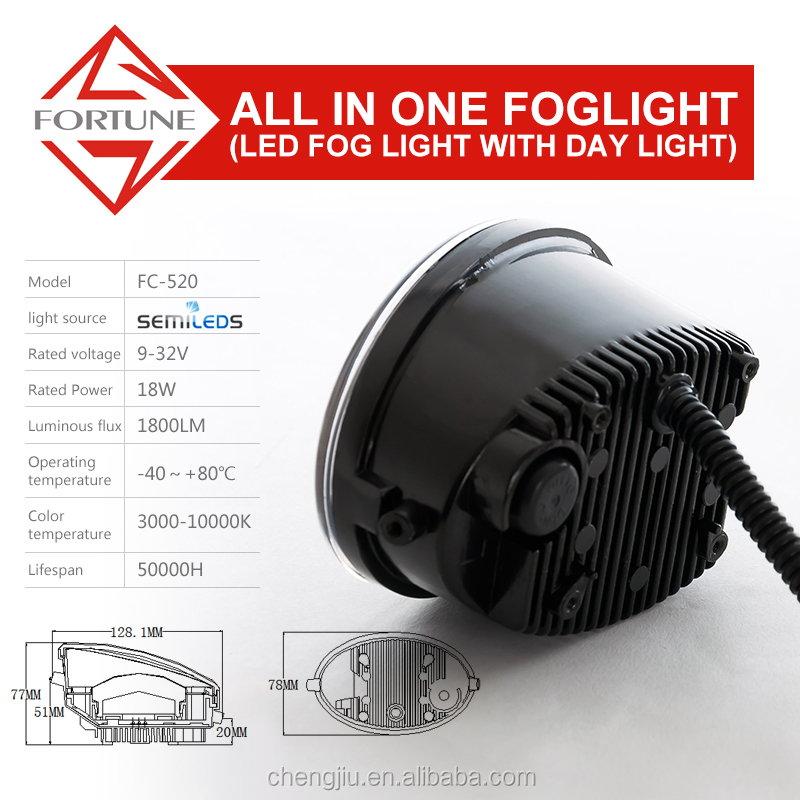 New Products Drl Daytime Running Led Fog Light car Driving Light for honda stream