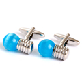New Blue Light Lamp Bulb suit mens shirt cufflinks