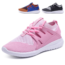 2018 Stock mesh fabric brand active running child sports shoes