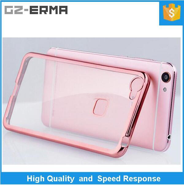 Wholesale Electroplating Transparent TPU Ultra-thin Phone Case for VIVO X6 Plus, for X6, for Xplay 5