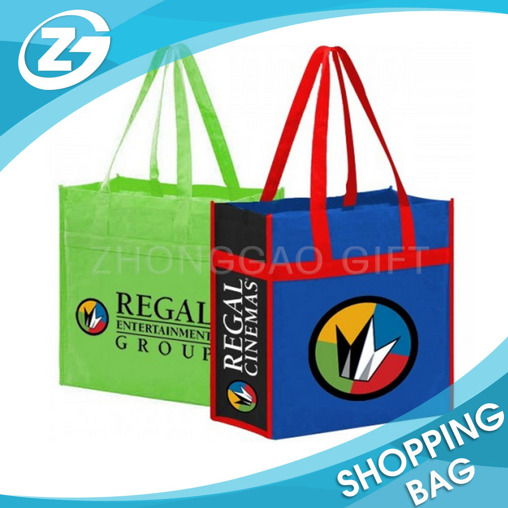 Cheap Customized Large Size Reusable Non-woven Shopping Grocery Folding Trolleys Supermarket Bag