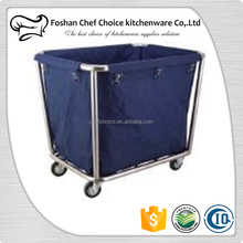 Universal Wheels Folding Design Laundry Basket For Hotel Stainless Steel Laundry Basket On Wheels Hotel Laundry Baskets Trolley