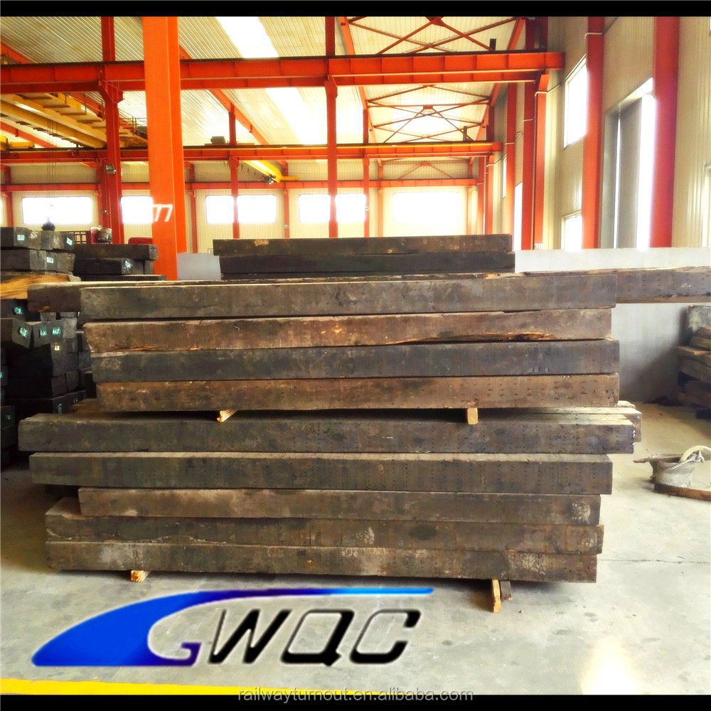 China supplier Good quality rail turnout customized wooden sleepers