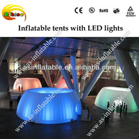 Customized practical oxford cloth inflatable dome tent with LED light