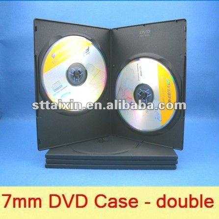Black Double 7mm dvd game case