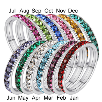 Unique Souvenir Door Gift for Newborn Baby, Christmas Gift Item Stainless Steel 12 months Ring Gift Set with Crystals