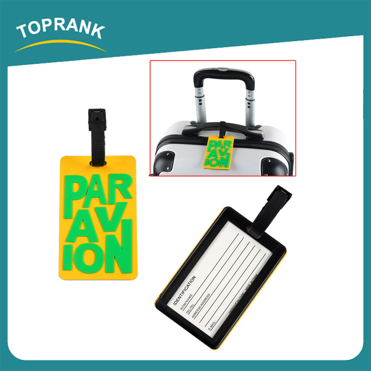 Toprank Manufacture Personalized Reusable 3D Printed Travelling Custom Baggage Tag Airline Baggage Tag