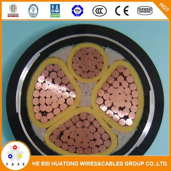 600V/1000v Underground cable steel tape type armoured copper power cable